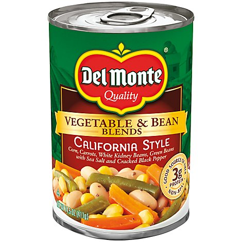 Del Monte Vegetable & Bean Blends California Style - 14.5 Oz
