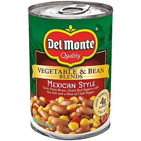 Del Monte Vegetable & Bean Blends Mexican Style - 14.5 Oz