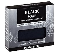 Plantlife Soap Activated Charcoal Black - 4 Oz
