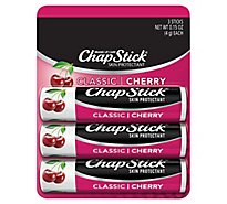 Chapstick Cherry Lip Balm 3 Pack - 3-.15 Oz