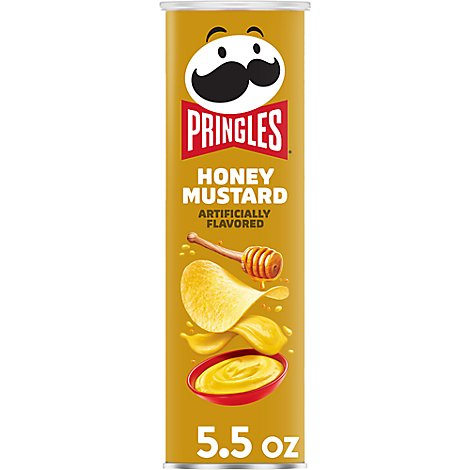 Pringles Potato Crisps Chips Honey Mustard - 5.5 Oz