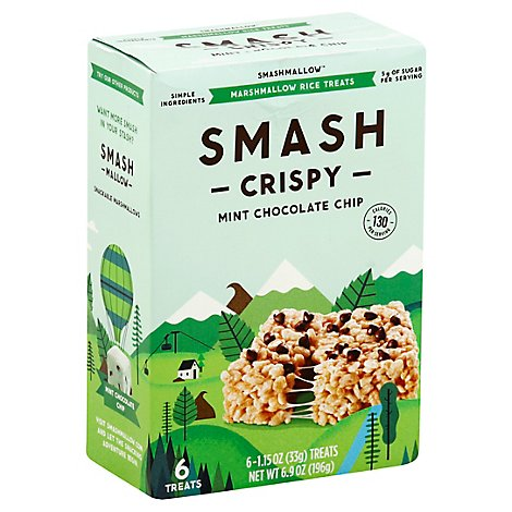 Smashmellows Mint Chocolate Chip - 6 Count