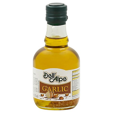 Dell Alpe Oil Olive Extra Virgin Garlic  - 8.5 Oz
