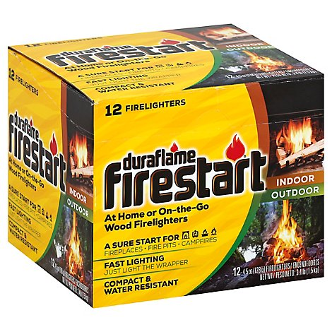 Duraflame Firestart Firelighters Wood - 12-4.5 Oz