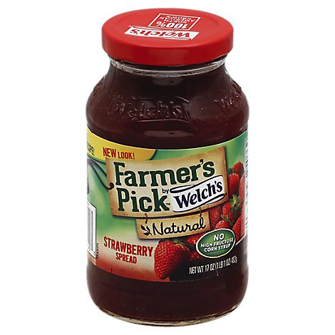 Welchs Farmers Pick Spread Natural Strawberry - 17 Oz