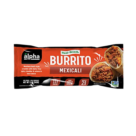 Alpha Foods Burrito Plant Based Mexicali - 5 Oz