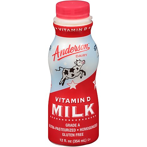 Anderson Dairy Whole Milk - 12 Oz