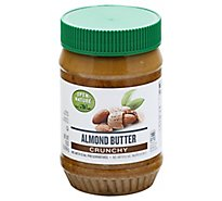 Open Nature Almond Butter Crunchy - 16 Oz