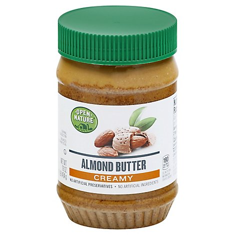 Open Nature Almond Butter Creamy - 16 Oz