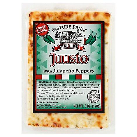 Pasture Pride Baked Cheese Juusto With Jalapeno Peppers - 6 Oz