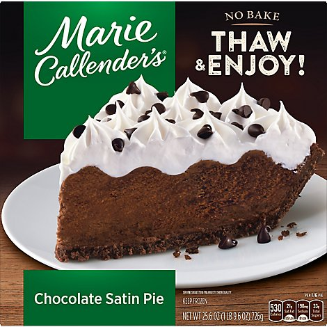 Marie Callenders Chocolate Satin Pie - 25.6 Oz