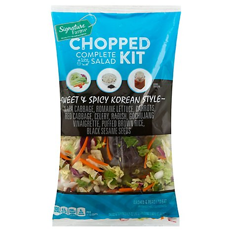 Signature Farms Salad Kit Complete Chopped Sweet & Spicy Korean Style - 11.19 Oz