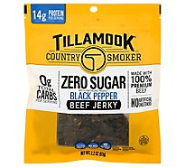 Tcs 2.2oz Zero Sugar Black Pep Jky - 2.2 Oz