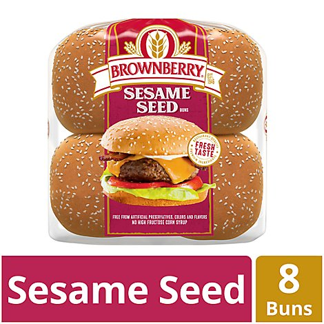 Brownberry Buns Sandwich Sesame Seeded 8 Count - 16 Oz