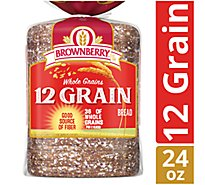 Brownberry Bread Whole Grains 12 Grain - 24 Oz
