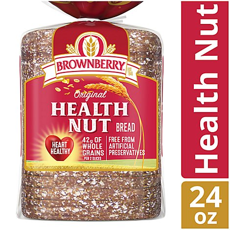 Brownberry Bread Whole Grains Health Nut - 24 Oz