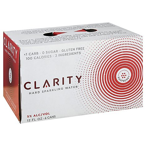 Craft Clarity Raspberry Hard Seltzer In Cans - 6-12 Fl. Oz.