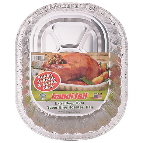 Handi Foil Pans Foil Super King Roaster Oval Extra Deep - Each