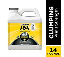 Tidy Cats Cat Litter 4 In 1 Strength Clumping for Multiple Cats - 14 Lb
