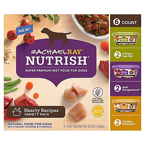 Rachael Ray Nutrish Food For Dogs Natural Healthy Recipes Variety Pack - 6-8 Oz