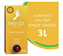 Barefoot Cellars On Tap Pinot Grigio White Box Wine - 3 Liter