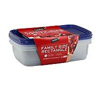 Signature Home Container Storage Tight Seal BPA Free Family Size - 3 Count