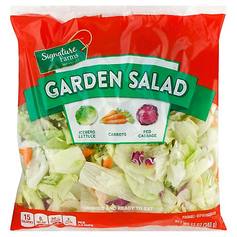 Signature Farms Garden Salad - 12 Oz
