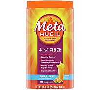 Metamucil Fiber Supplement 4 In 1 MultiHealth Powder Orange Sugar Free - 36.8 Oz