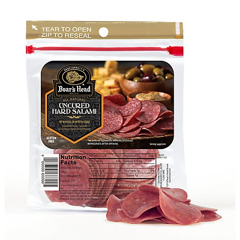Boars Head Uncured Hard Salami In A Pouch - 5 Oz