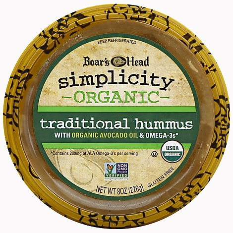 Boars Head Simplicity Hummus Organic Traditional - 8 Oz