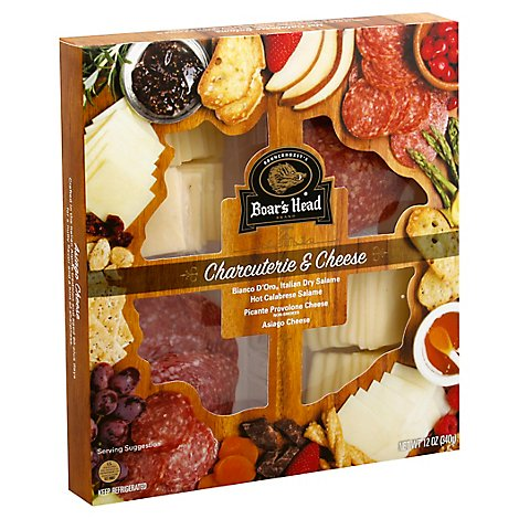Boars Head Charcuterie Tray Meat & Cheese - 12 Oz