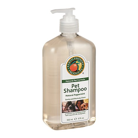 Earth Fri Shampoo Pet Peppermint - 17 Oz