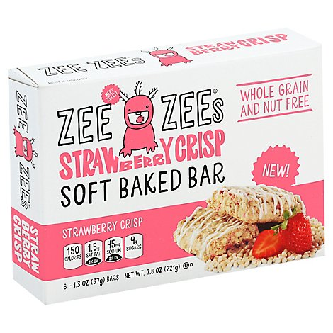 Zee Zees Soft Baked Bars Strawberry Crisp - 6-1.3 Oz