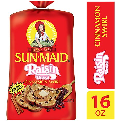 Sunmaid Cinnamon Raisin Swirl Bread - 16 Oz