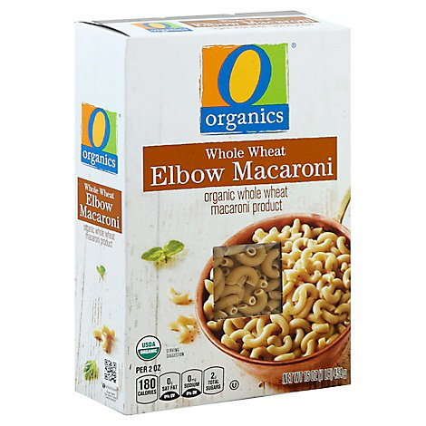 O Organics Pasta Elbow Macaroni Whole Wheat - 16 Oz