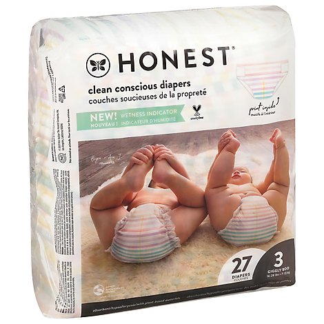 The Hones Diaper Rose Blossom Sz 3 - 27 Package