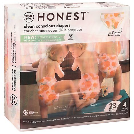 The Hones Diaper Rose Blossom Sz 4 - 23 Package