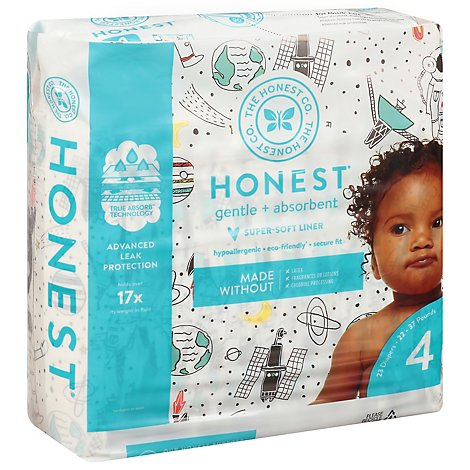 The Honest Company Diapers Gentle + Absorbent Size 4 (22 To 37 Pounds) - 23 Count