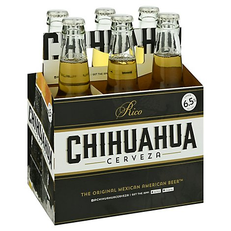 Chihuahua Cerveza Limon Mexican In Bottles - 6-12 Fl. Oz.