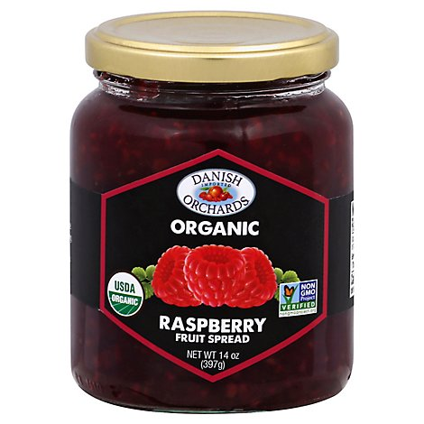Danish Orchards Organic Fruit Spread Raspberry - 14 Oz