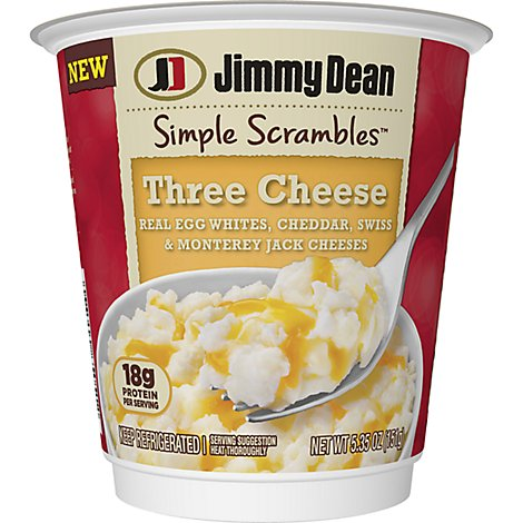 Jimmy Dean Simple Scrambles Three Cheese Breakfast Cup - 5.35 Oz