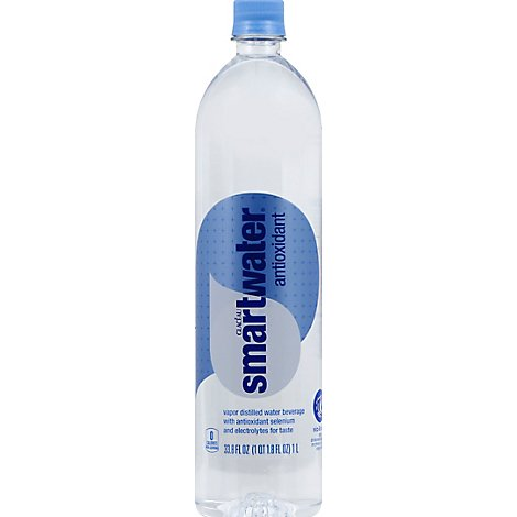 smartwater Water Antioxidant Vapor Distilled - 33.8 Fl. Oz.