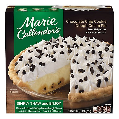 Marie Callenders Chocolate Chip Cookie Dough Pie - 35 Oz