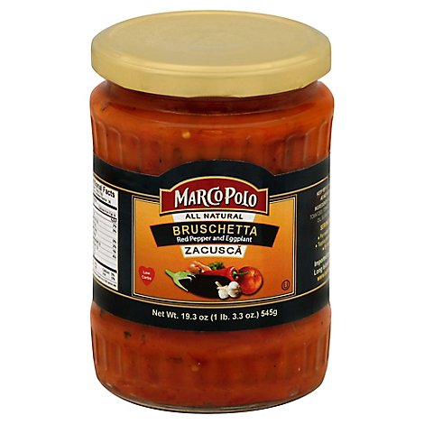 Marco Polo Spread Zacusca Bruschetta Red Pepper And Eggplant - 19.3 Oz