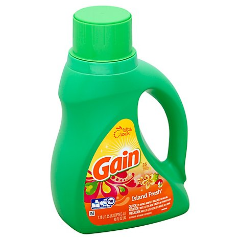 Gain Plus Aroma Boost Laundry Detergent Liquid Island Fresh 25 Loads - 40 Fl. Oz.