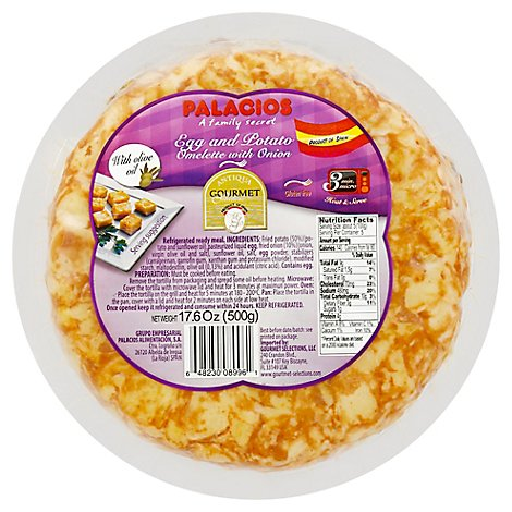 Gourmet Select Spanish Omelette With Onion - 17.6 Oz