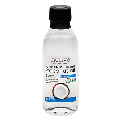 Nutiva Liquid Coconut Oil - 8 Fl. Oz.