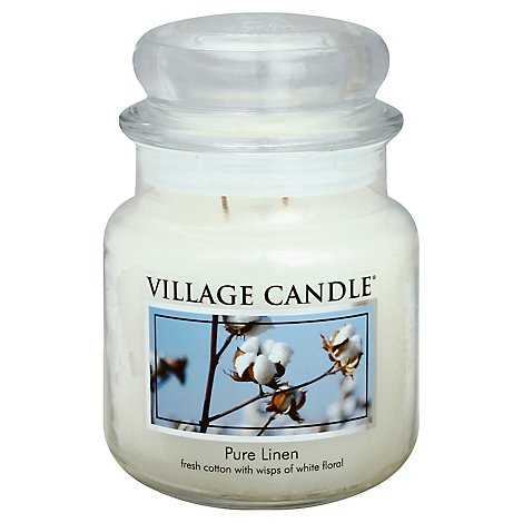 Village Candle Candle Pure Linen 16 Ounce - Each