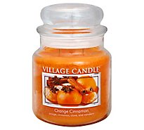 Village Candle Candle Orange Cinnamon 16 Ounce - Each