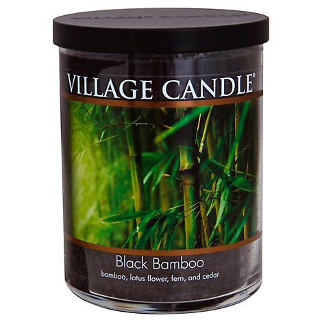 Village Candle Candle Black Bamboo 18 Ounce - Each